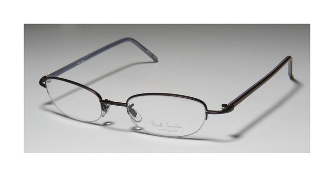Paul Smith Unisex Half Rim Designer Eyeglasses