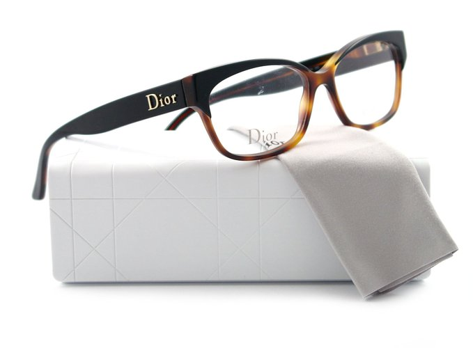 Black Dark Tortoise Glasses from Christian Dior