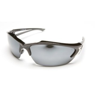 Edge Khor Safety Glasses with Mirror Black and Silver