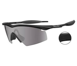 Oakley M Frame Black Strike Industrial Safety Glasses with Gray Lens