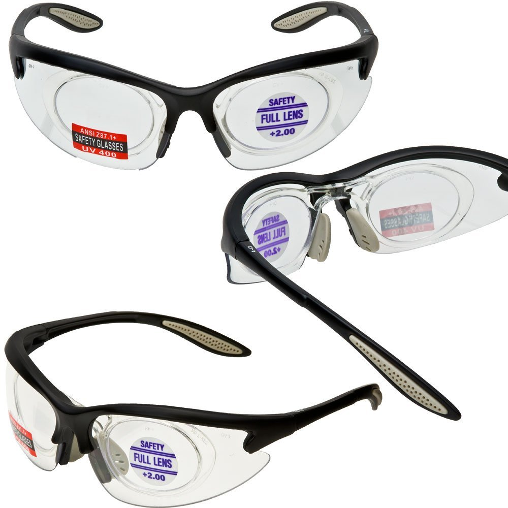 Morays Safety Glasses with Removable Magnifier