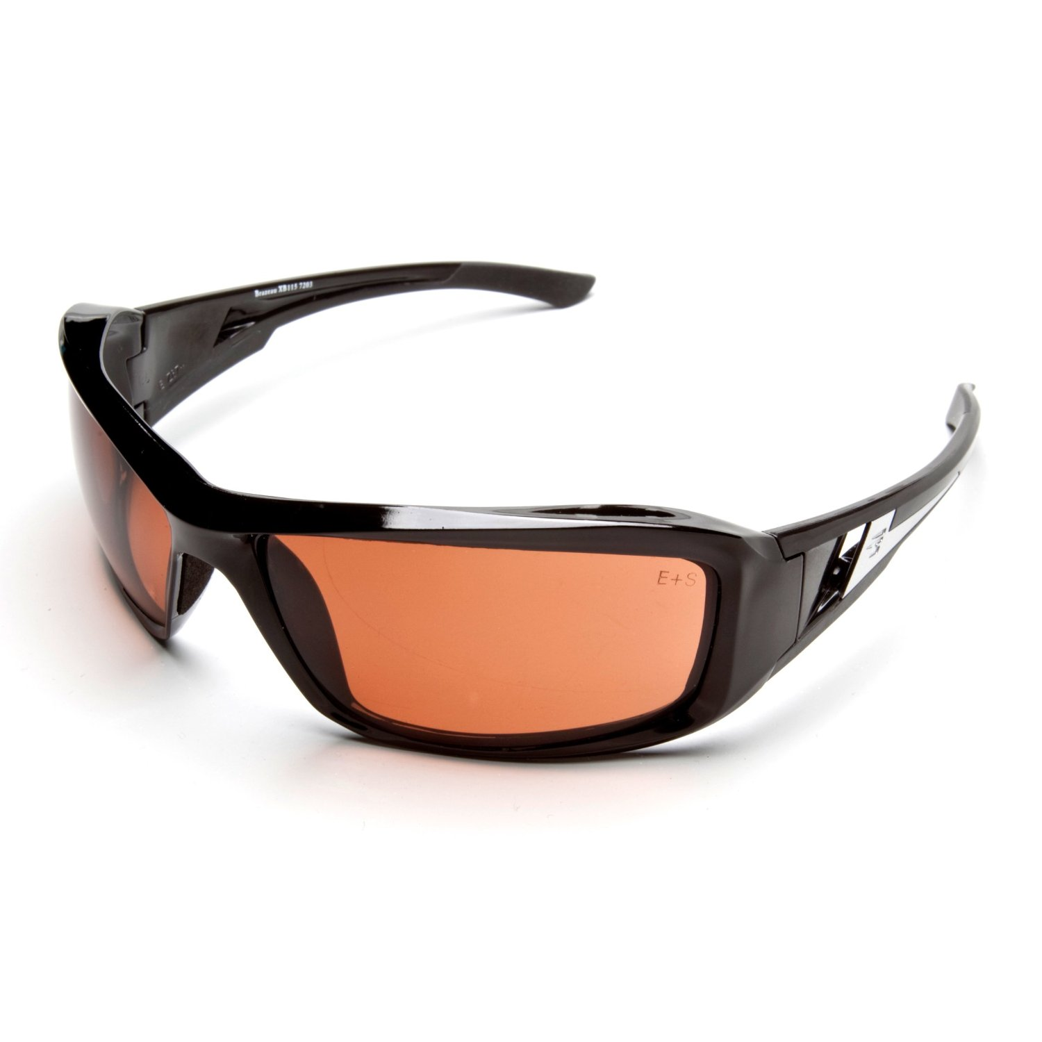 Edge Brazeau Safety Glasses with Black Frames and Copper Lens