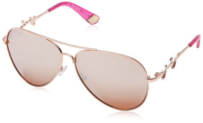 Juicy Couture Rose Gold Aviator Style Shades