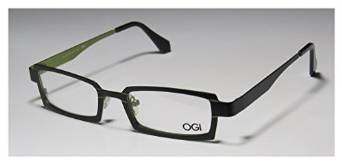 Ogi 4018 Black and Green Full-rim Rectangular Eyeglasses