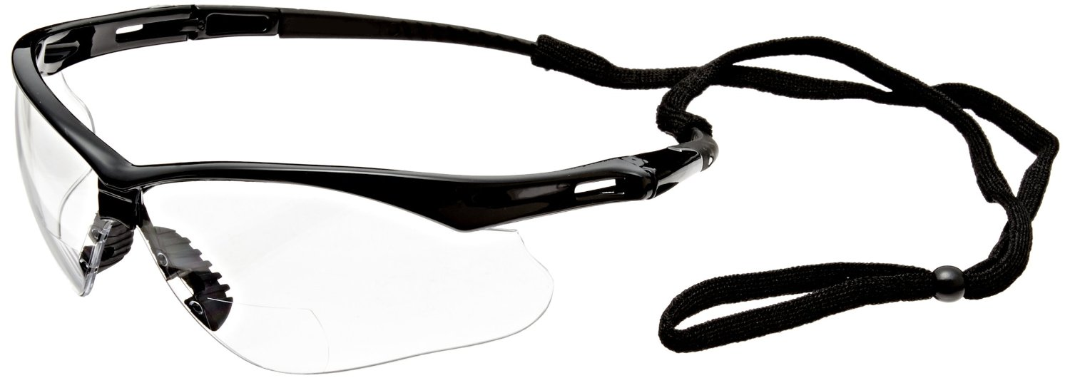 Safety Glasses with Gold Metallic Mirror Lens