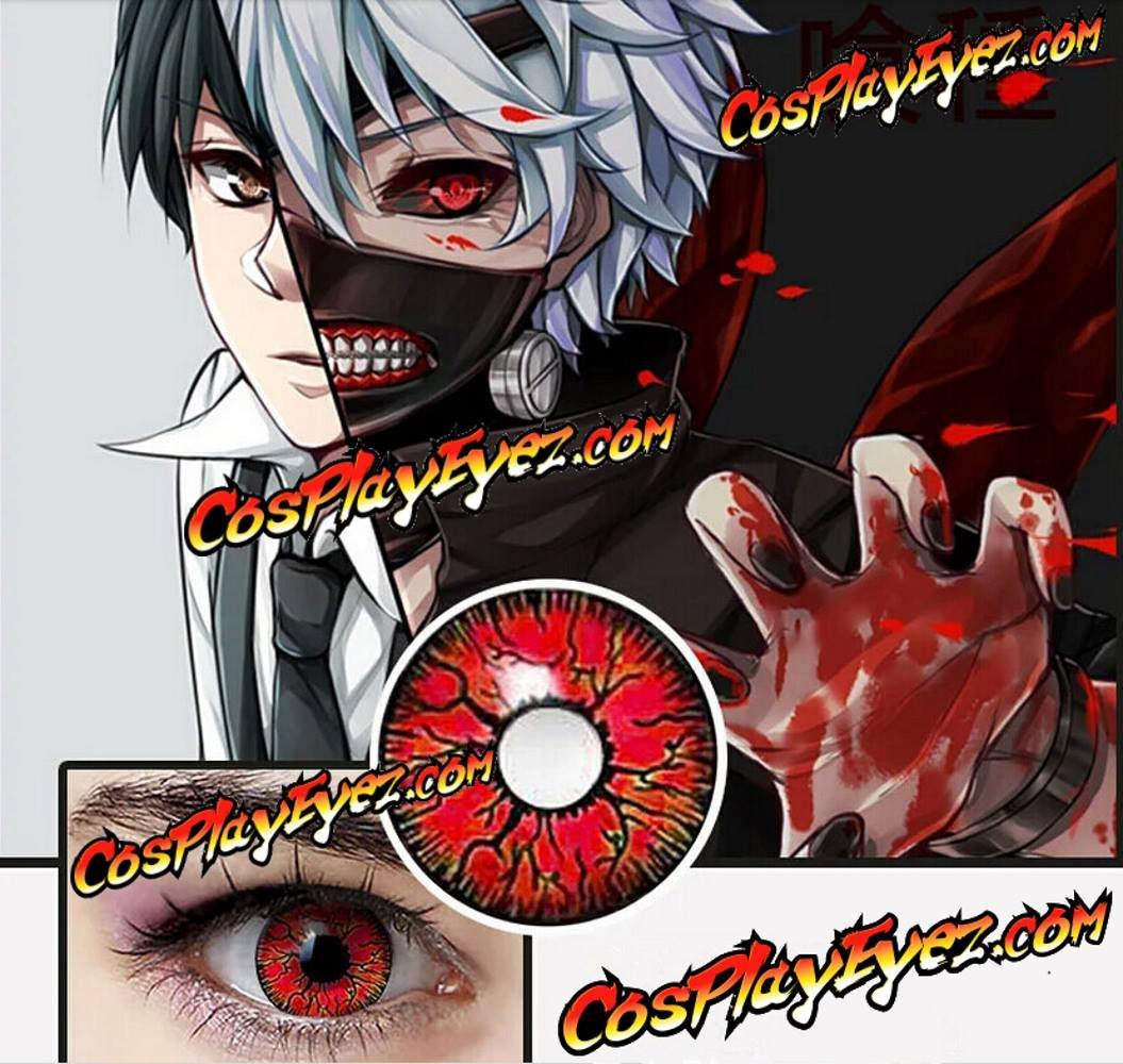 Goulish Red contact lenses