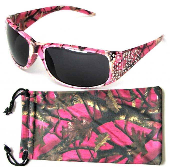 Super Hot and Sexy Pink Camouflage Sunglasses