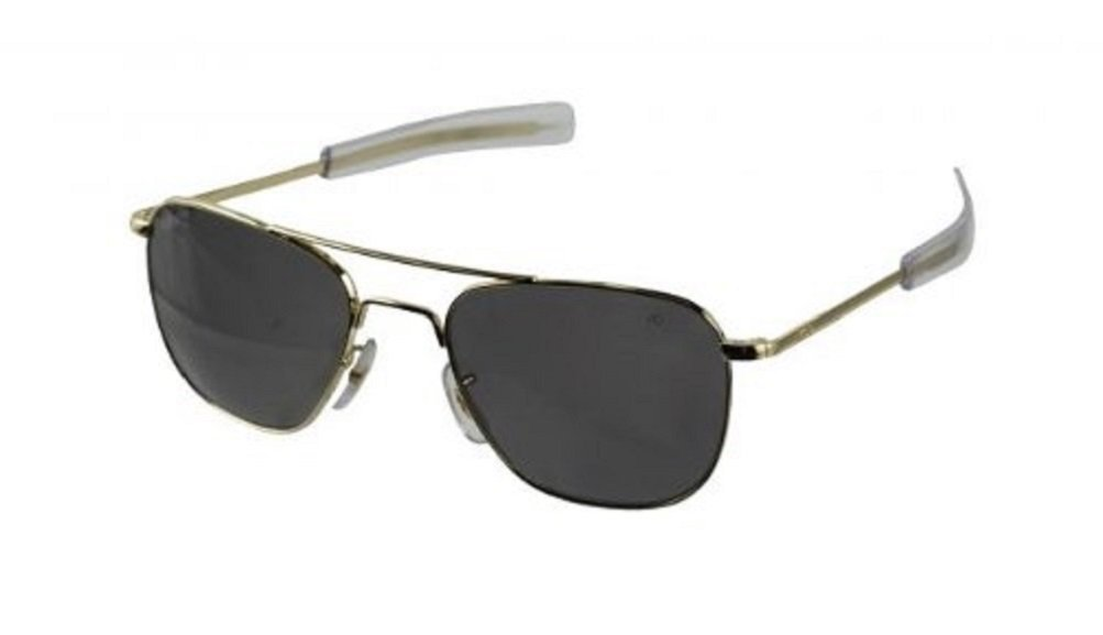 Original Aviator Style Sunglasses with gold Frame and Bayonet Temples