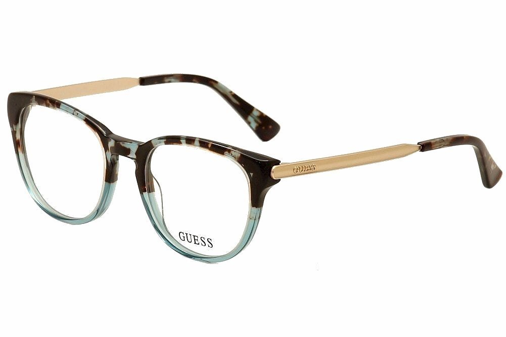 Guess Womens Tortoise Blue Full Rim Eyeglasses