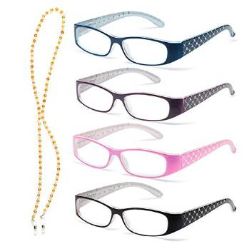 Lightweight Specs for Women with Sparkling Crystal Temples