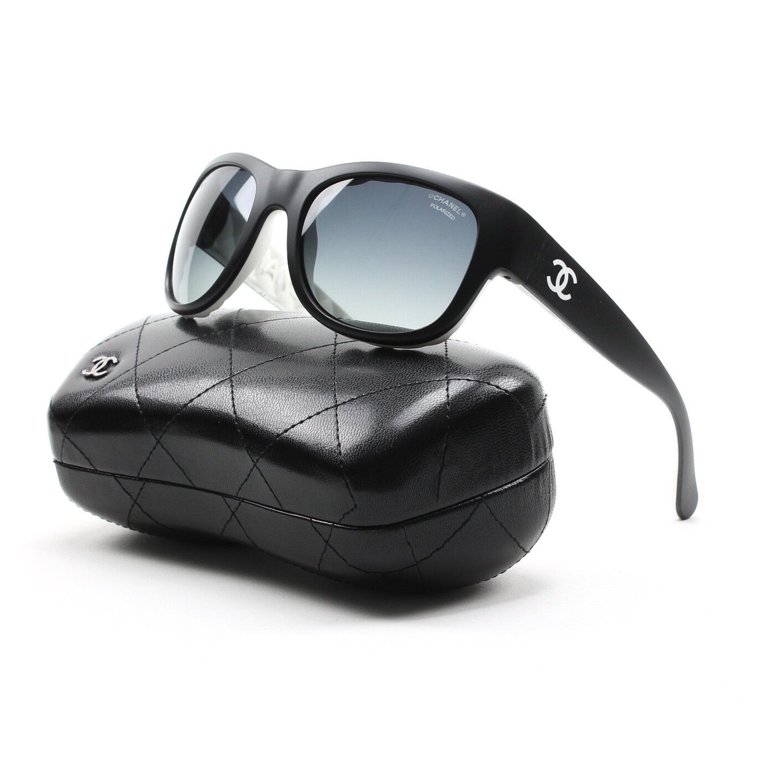 Chanel Womens 6049 Black Sunglasses