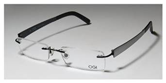 Ogi 613 Black and Silver Rimless Eyeglasses