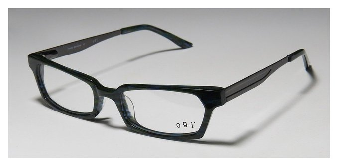 Ogi 7131 Green Teal and Grey Full Rim Eyeglasses