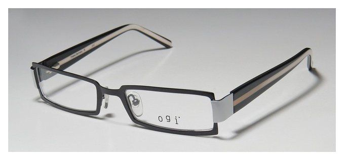Ogi 9033 Black White and Rose Full Rim Specs