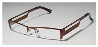 Ogi 9038 Burgundy Yellow Half Rim Eyeglasses