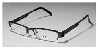 Ogi 9048 Black Brown and Green Half Rim Glasses