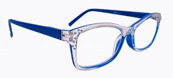Artwear Crystal Clear and Blue Readers for Women