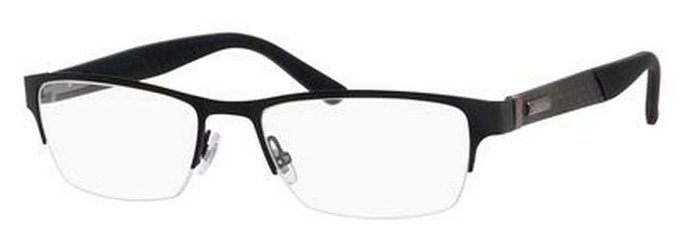 Gucci Mens Black Carbon Rectangular Glasses
