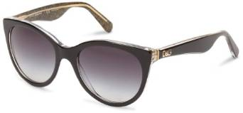 Dolce and Gabbana Round Black Glitter Sunglasses