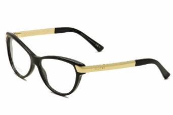 Guess Acetate Black Gold Eyeglasses