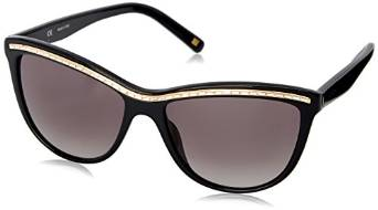 Escada Cateye Sunglasses with Black Stones and Gradient Grey Lenses