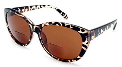 Women Bi-Focal Fashion Reding Sunglasses in Black Tortoise, Olive and Light Yellow Katie Holmes Style