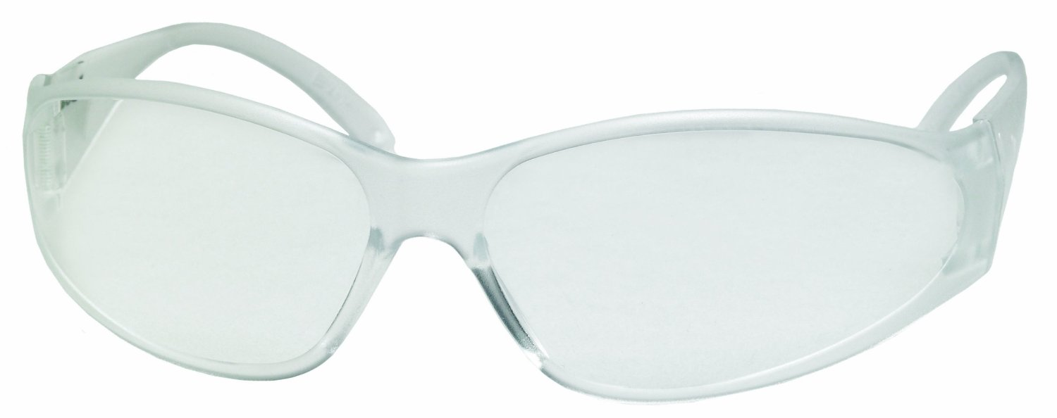 Economy Boas Safety Glasses, Clear Frame with Clear Lens