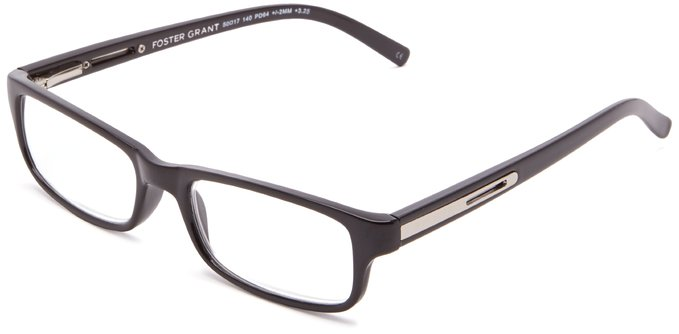 Foster Grant Men's Brandon Rectangular Reading Glasses