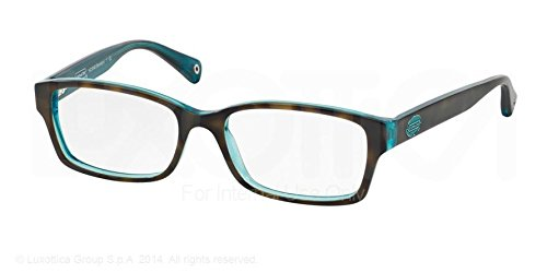 Coach Tortoise and Teal Brooklyn Glasses