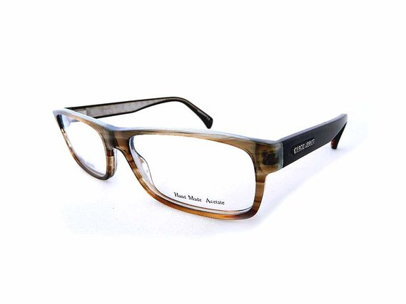 Giorgio Armani Prescription ready Eyeglass Frame in Brown Azure