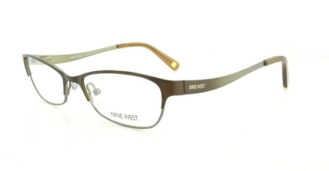 Brilliant Brown Gold Eyeglasses by Nine West