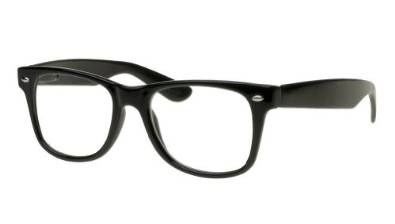 Nerd Style Black Framed Glasses