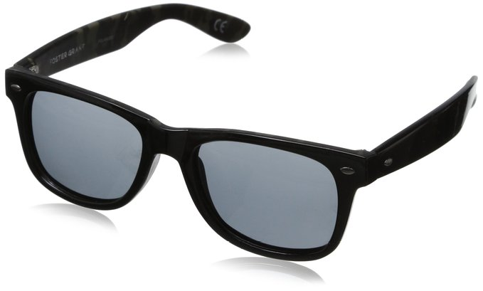 Foster Grant Cape Aviator Black Sunglasses