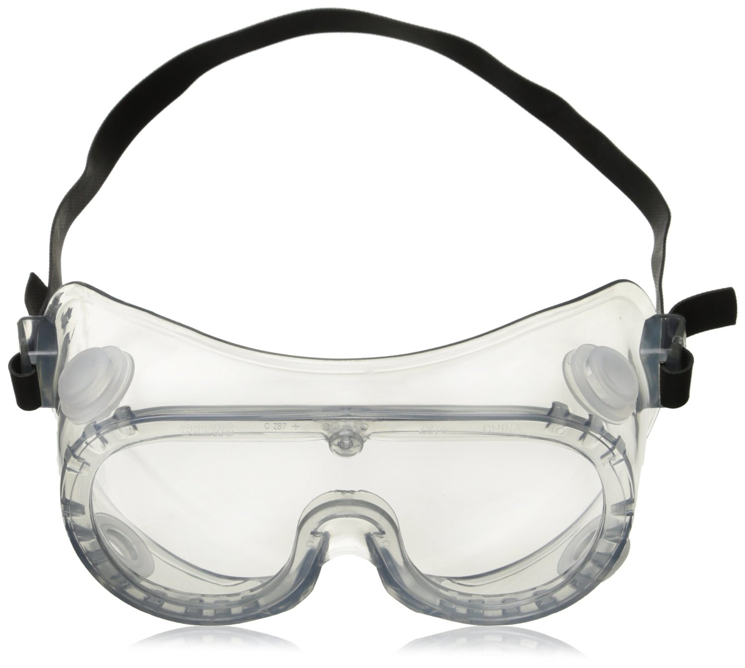 Chemical Splash Goggle with Indirect Ventilation and Adjustable Strap