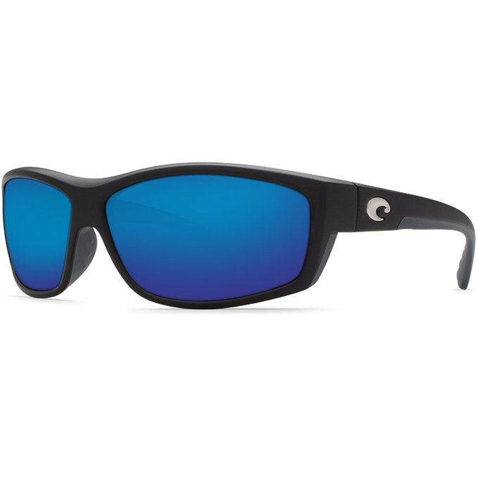 Costa Del Mar Saltbreak Mens Polarized Sunglasses in Black with Blue Mirror Glass
