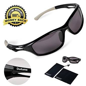 Polarized Sports Sunglasses for Running Cycling Fishing and Golf with unbreakable frame