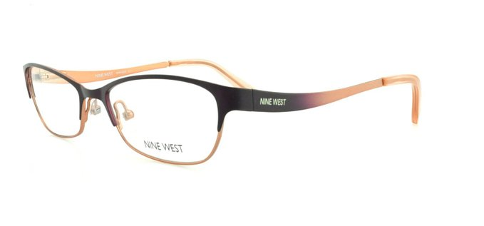 Nine West 511 Eggplant Rose Eyeglasses