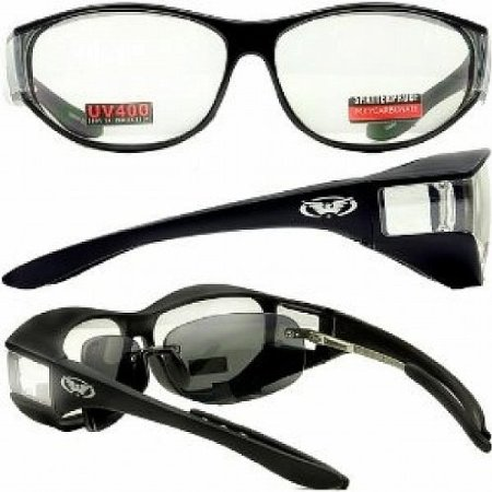 Escort Over Glasses Clear Lens Safety Glasses with Matching Side Lens meets ANSI Z87.1-2003 Standards
