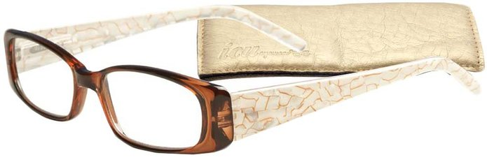 Fancy Temples Women's Reading Glasses with Soft Case By ICU
