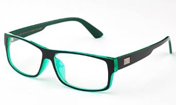 Unisex Fashion Black and Green Glasses