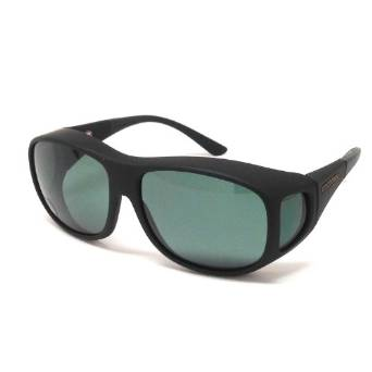 Cocoons Fitover Black and Grey Polarized Sunglasses
