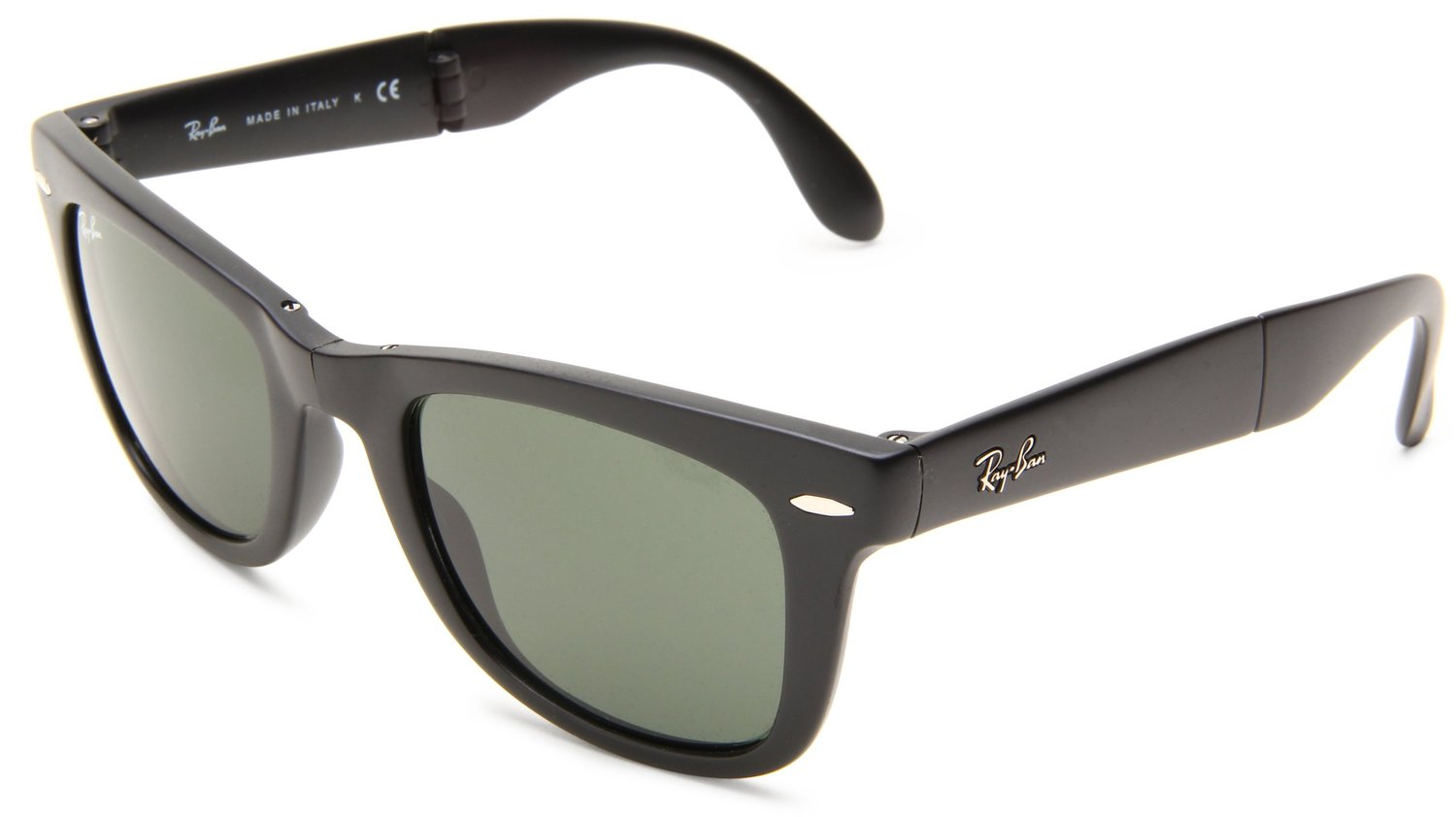 Ray Ban Mens Folding Wayfarer Square Sunglasses