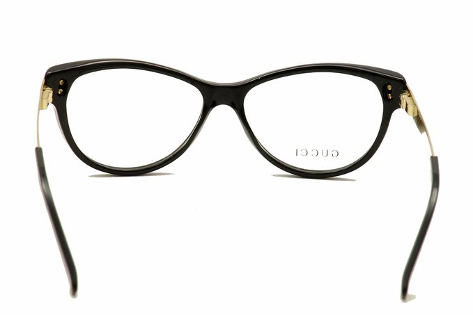 Gucci Mens Black and Gold Eyeglasses