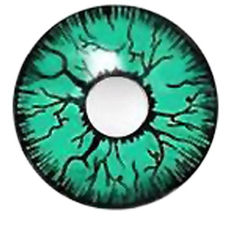 Goulish Green contact lenses
