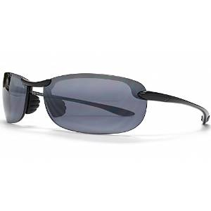 Maui Jim Gloss Black and Gray Makaha Sunglasses