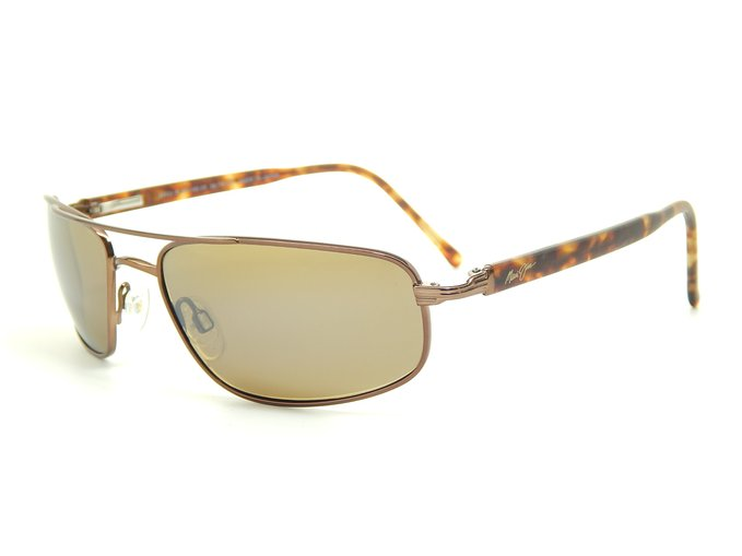 Maui Jim Kahuna Metallic Gloss Copper and Bronze Polarized Sunglasses