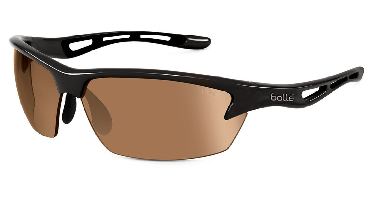 Bolle Bolt Adult Competitor Series golf sunglasses with a shiny black finish