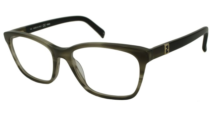 Fendi Green Stripe Eyeglasses