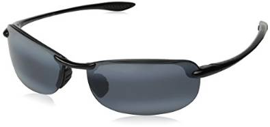 Makaha Maui Jim Glorious Gloss Black and Grey Sunglasses