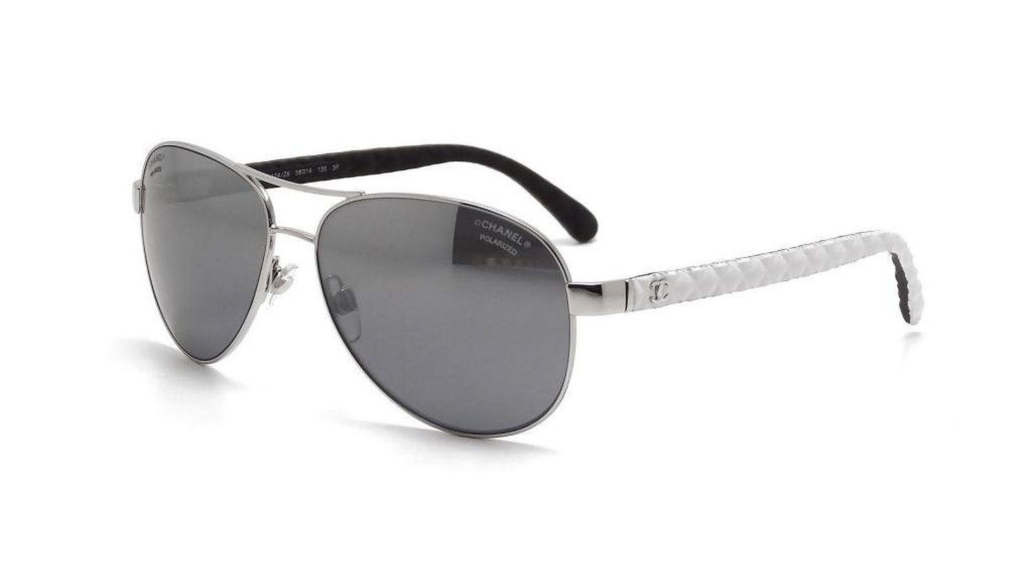 Chanel Womens 4204Q C101Z7 Gray Aviator Sunglasses
